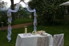 Zeremonie auf der Wiese