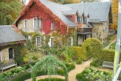 Rosengarten im Herbst